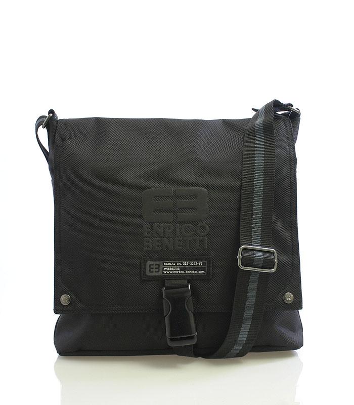 Černá taška přes rameno Enrico Benetti 4477