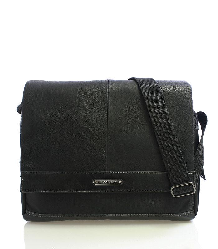 Černá taška přes rameno Enrico Benetti 4480