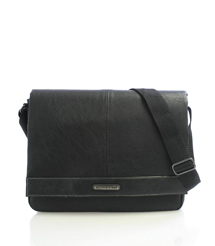 Černá taška přes rameno Enrico Benetti 4483