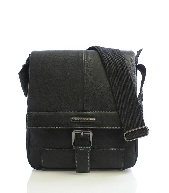 Černá taška přes rameno Enrico Benetti 4486