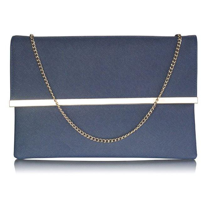 Luxusní modré listové psaníčko LS Fashion 0279