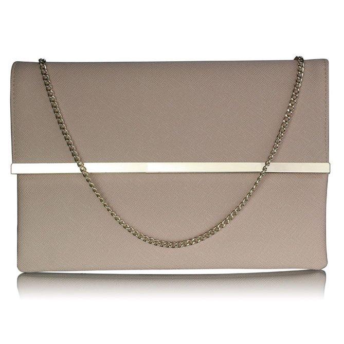 Luxusní pudrové listové psaníčko LS Fashion 0279