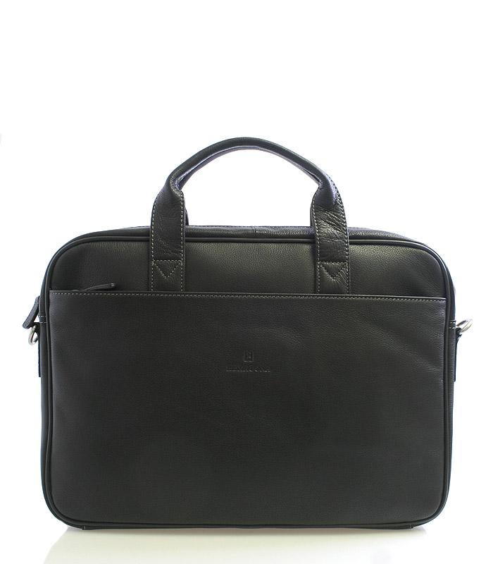 Černá kožená taška Hexagona 62544