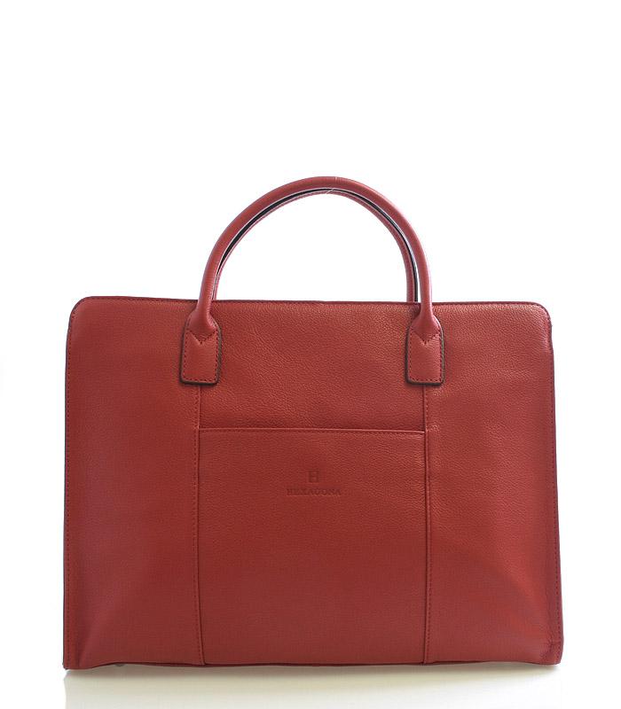 Dámská kabelka červená kožená - Hexagona 462698