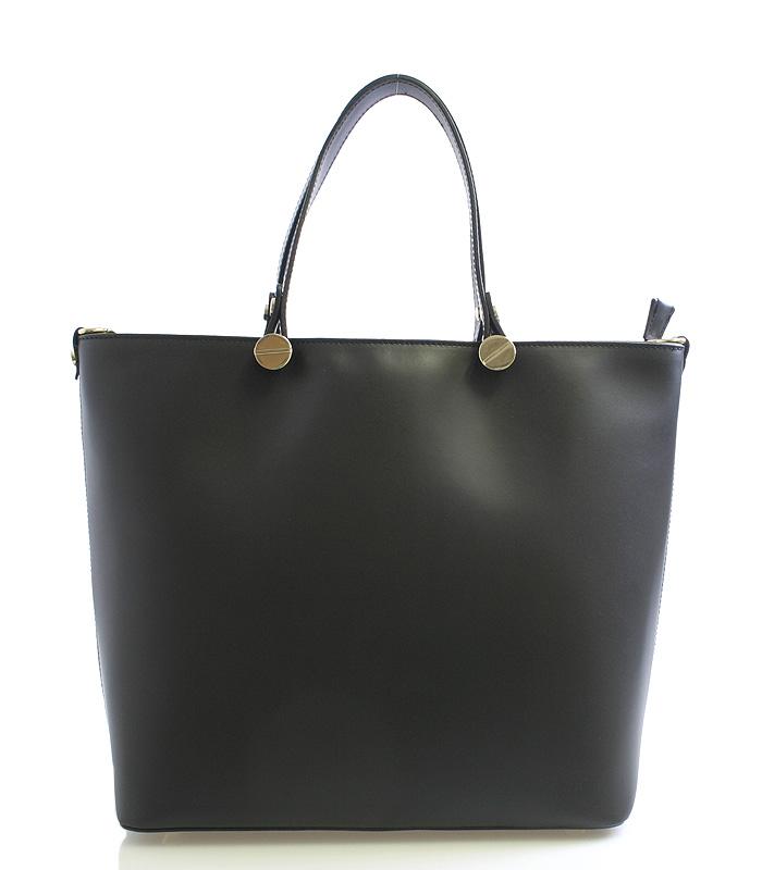 Dámská kabelka černá kožená - ItalY Elza