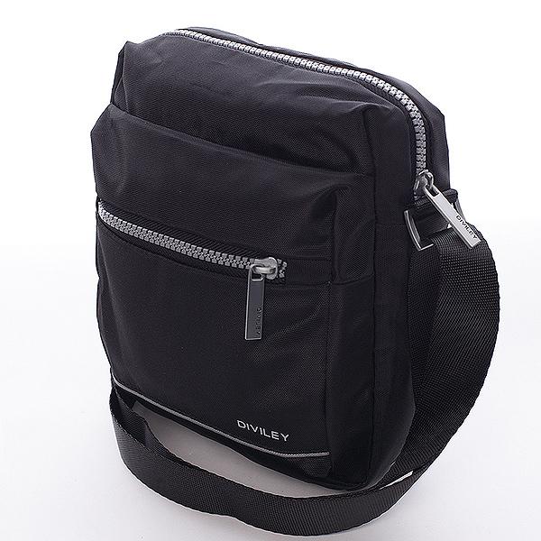 Černá taška přes rameno Diviley Josh