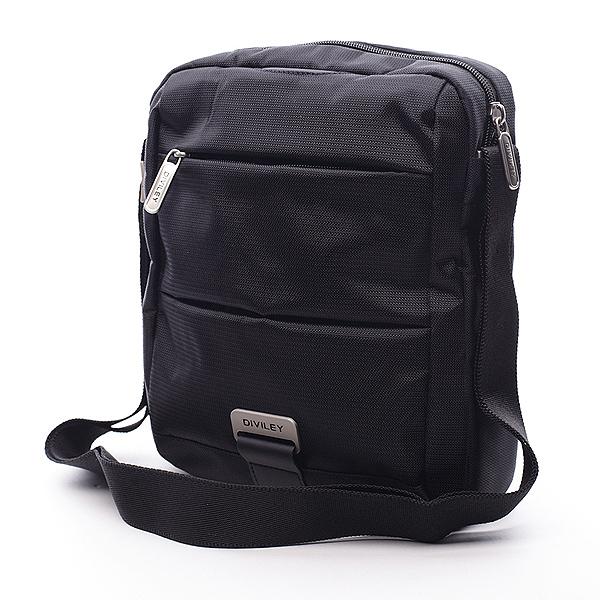 Černá taška přes rameno Diviley Drake