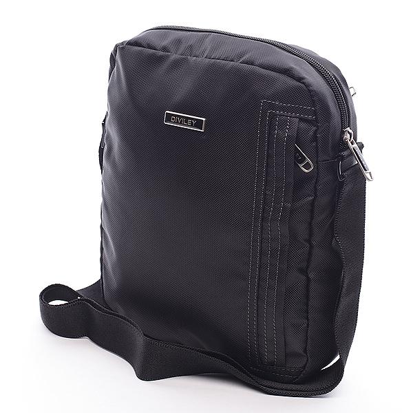 Černá taška přes rameno Diviley Mike