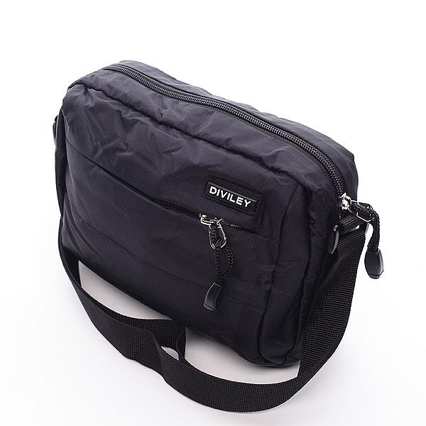 Černá taška přes rameno Diviley Damian