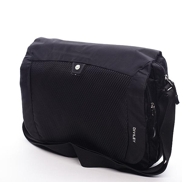Černá taška přes rameno Diviley Frank