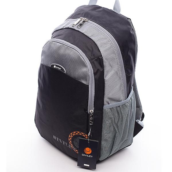 Pánsky batoh černo-šedý - Diviley Peter