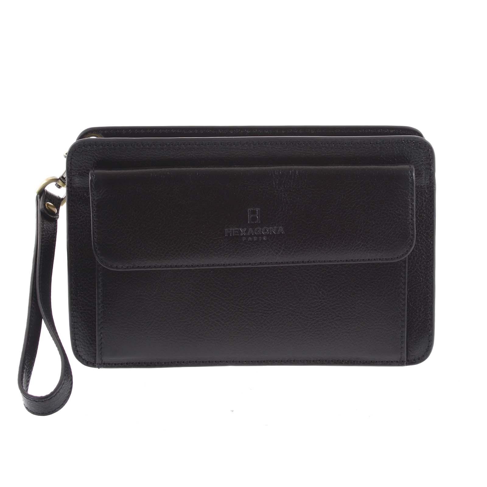 Černé luxusní pánské kožené etue 110482