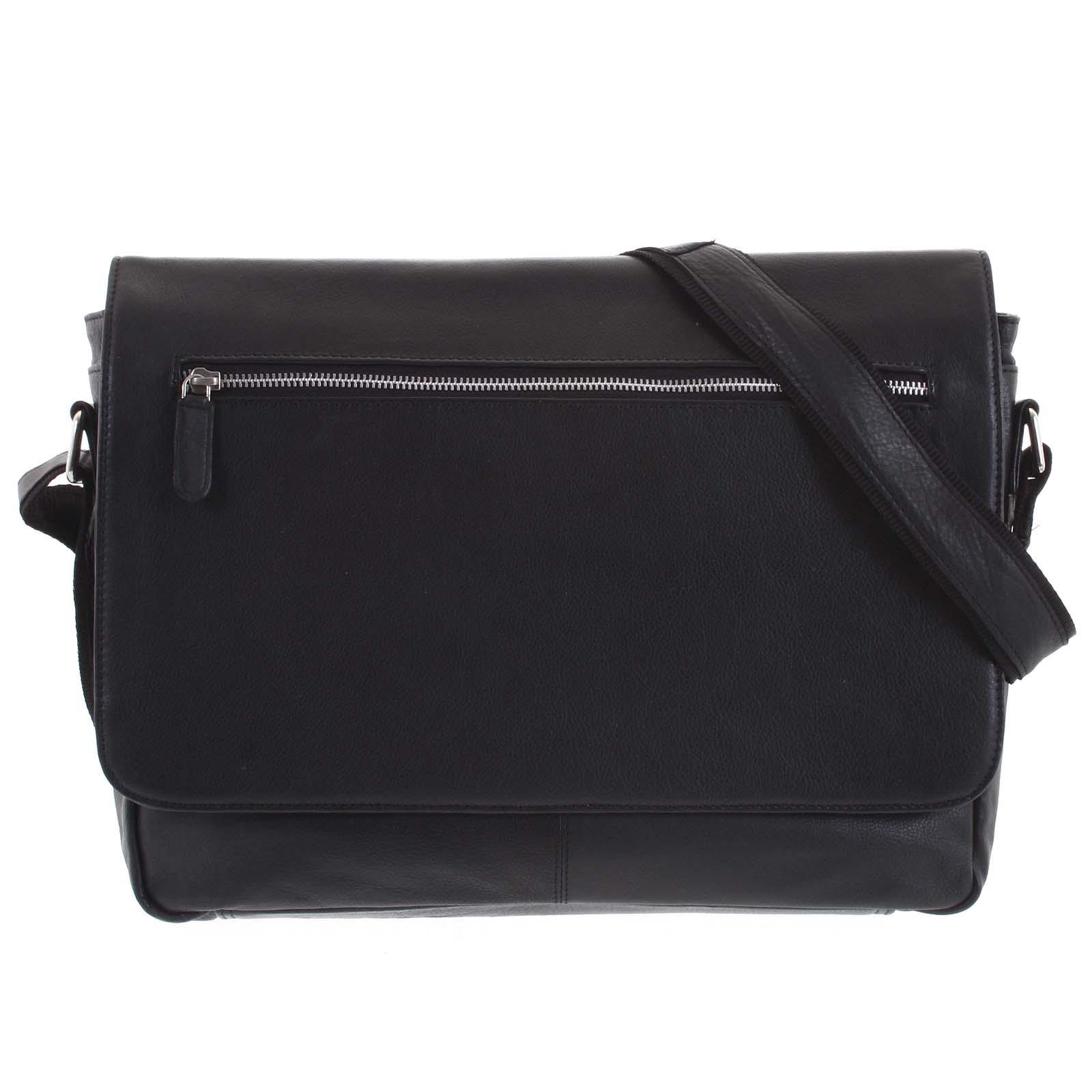 Pánská kožená taška černá - Tomas Woodoo