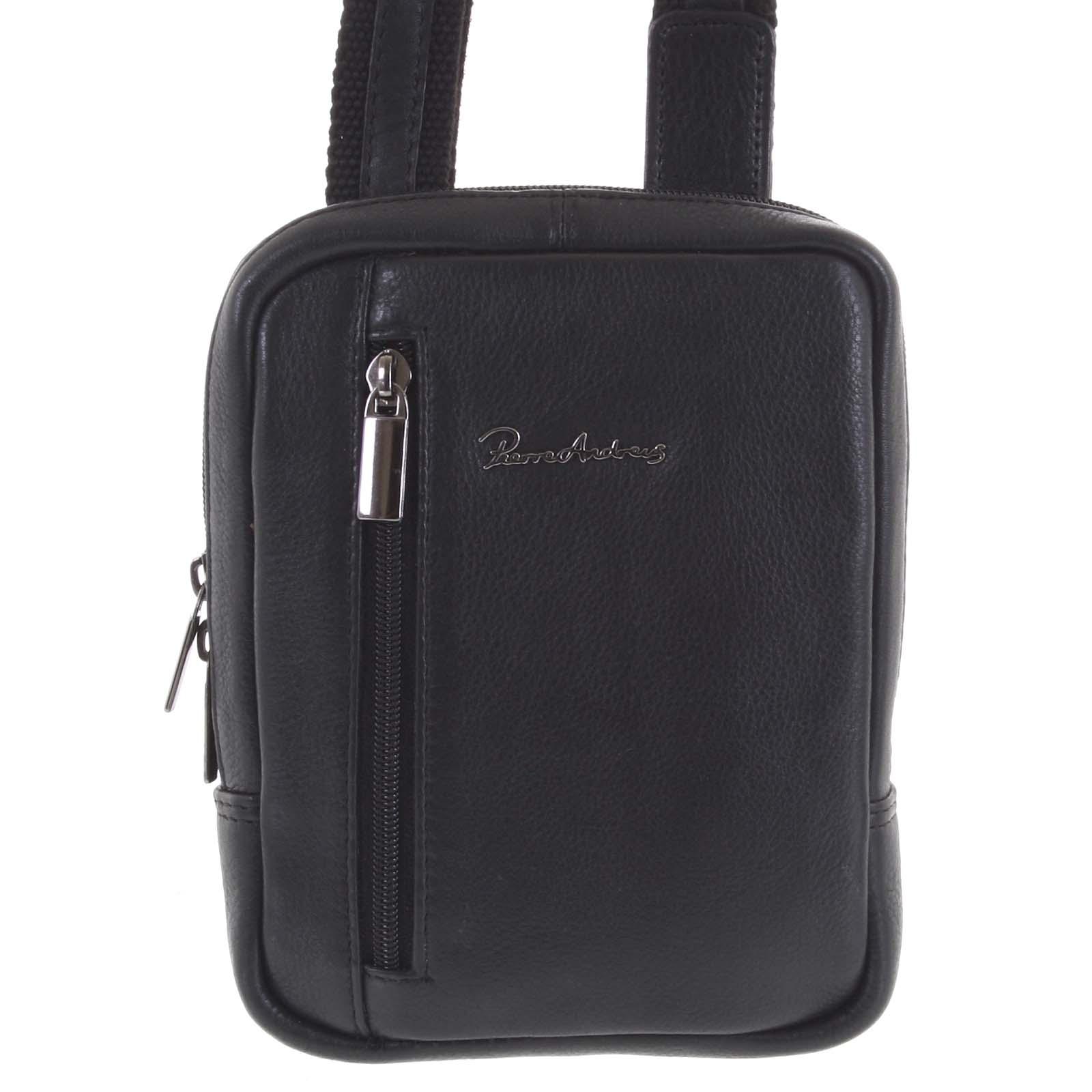 Praktická kožená kabelka černá - Pierre Andreus Aron