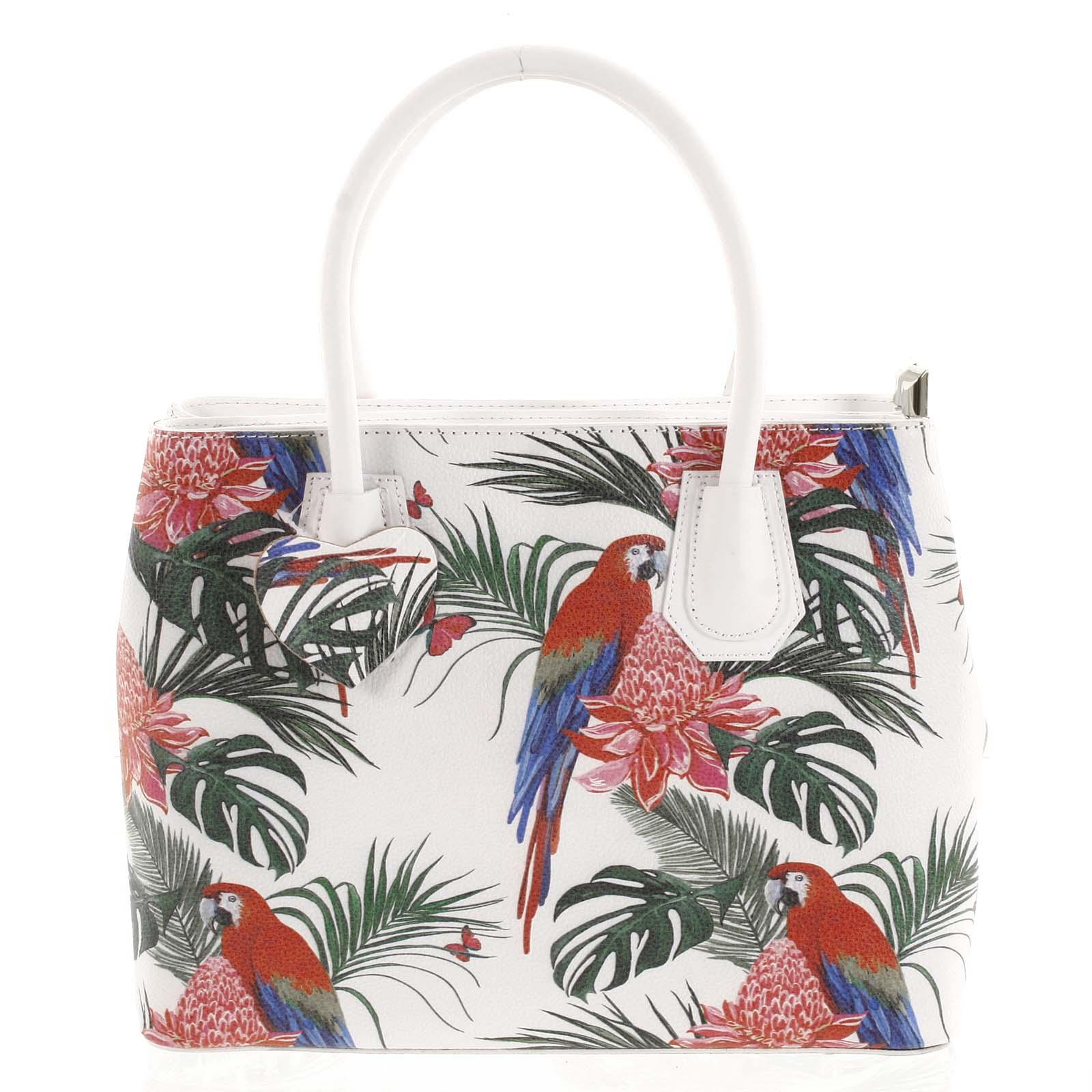 Originální dámská kožená kabelka bílá - ItalY Mattie Ara