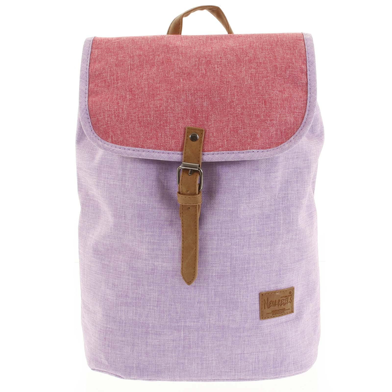 Elegantní látkový fialovo růžový batoh - New Rebels Morpheus