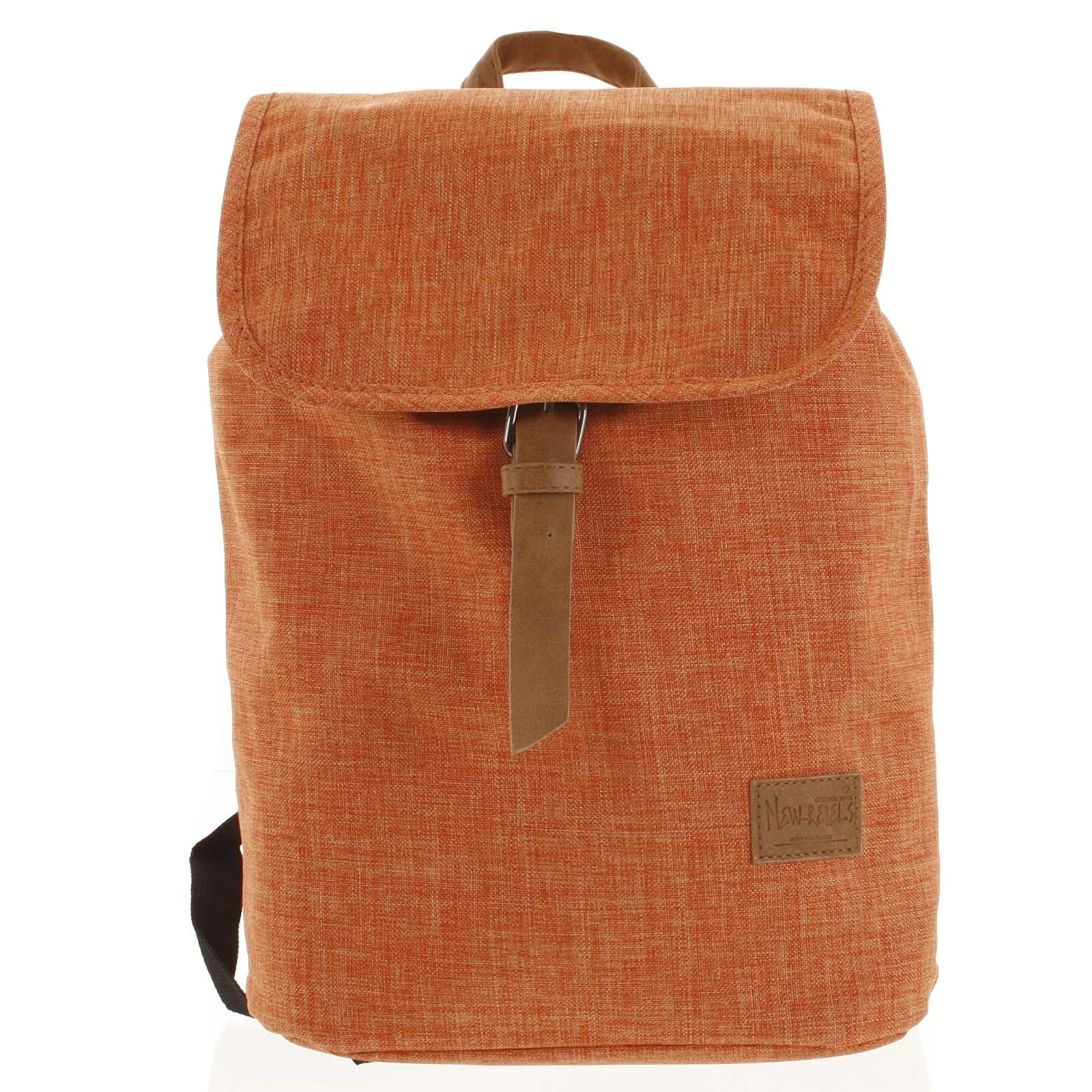Elegantní látkový oranžový batoh - New Rebels Morpheus