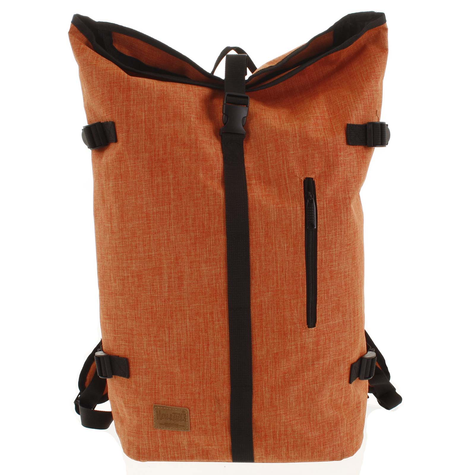 Jedinečný velký stylový unisex batoh oranžový - New Rebels Rebback