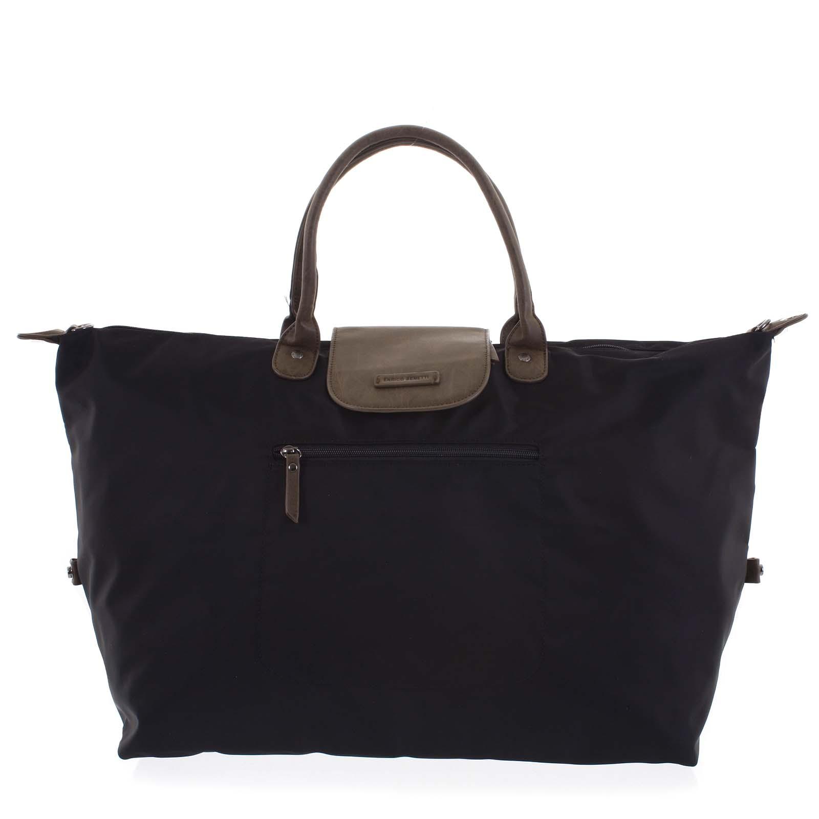 Voděodolná cestovní taška černá - Enrico Benetti Maroony