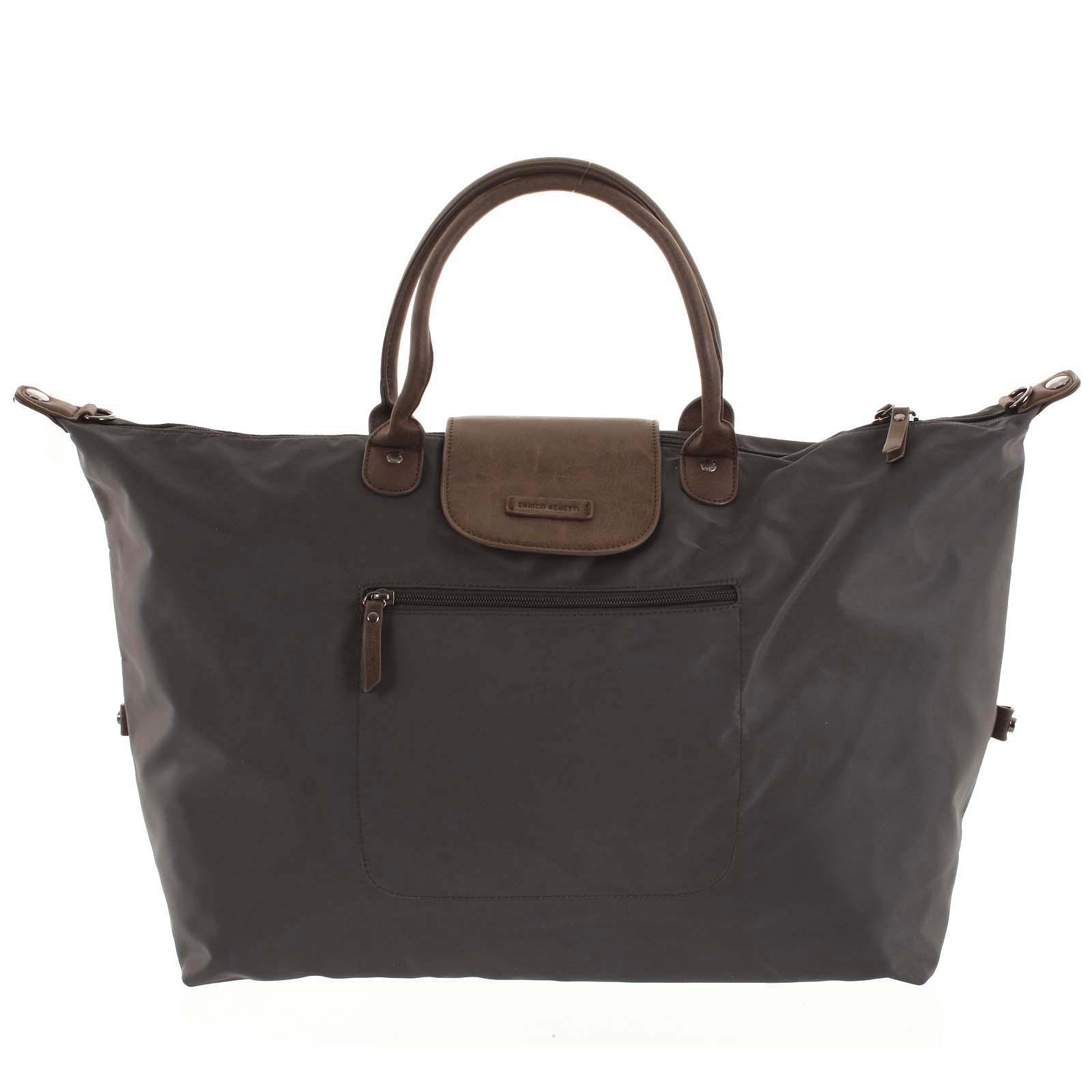 Voděodolná cestovní taška tmavě šedá - Enrico Benetti Maroony