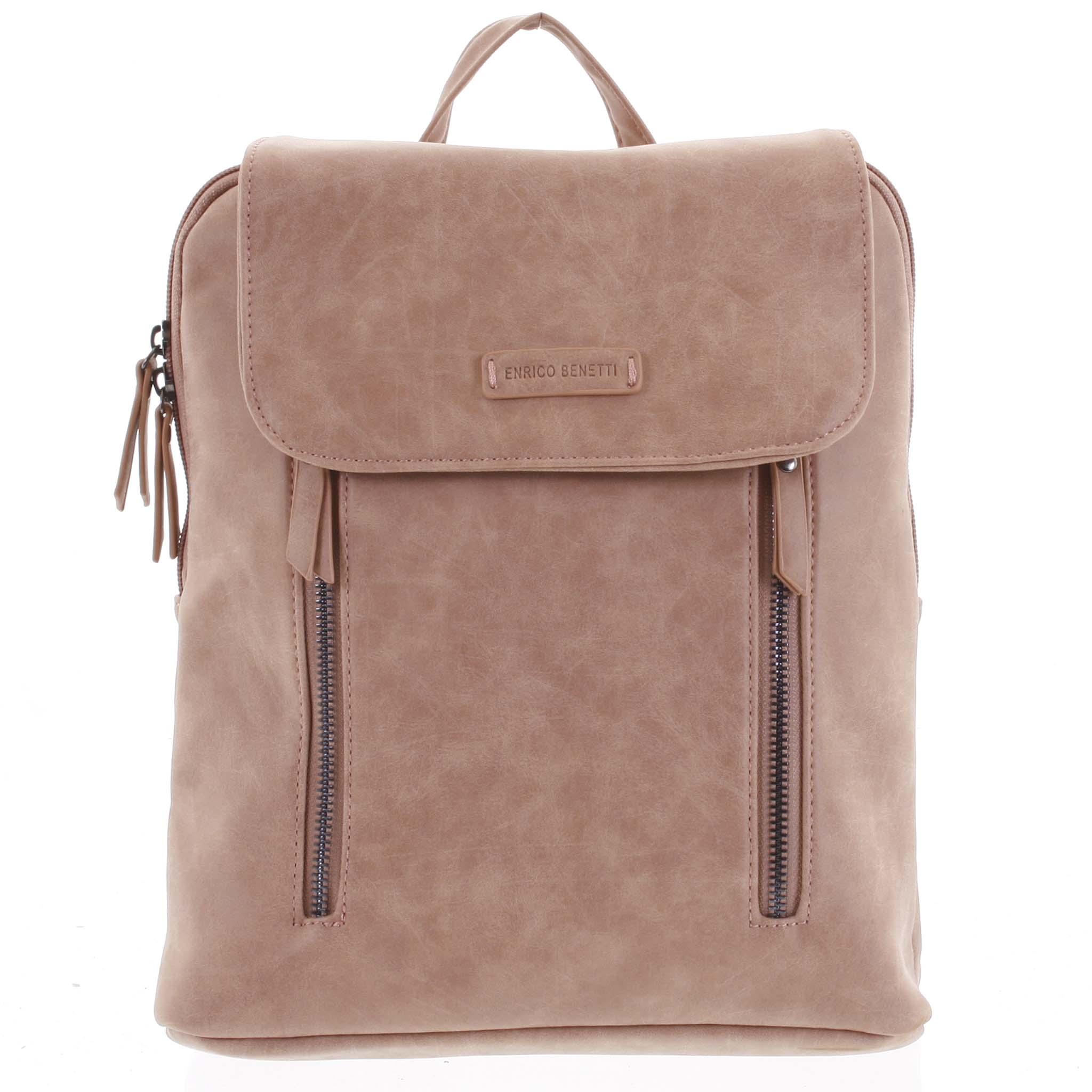 Dámský střední batoh růžový - Enrico Benetti Aviana