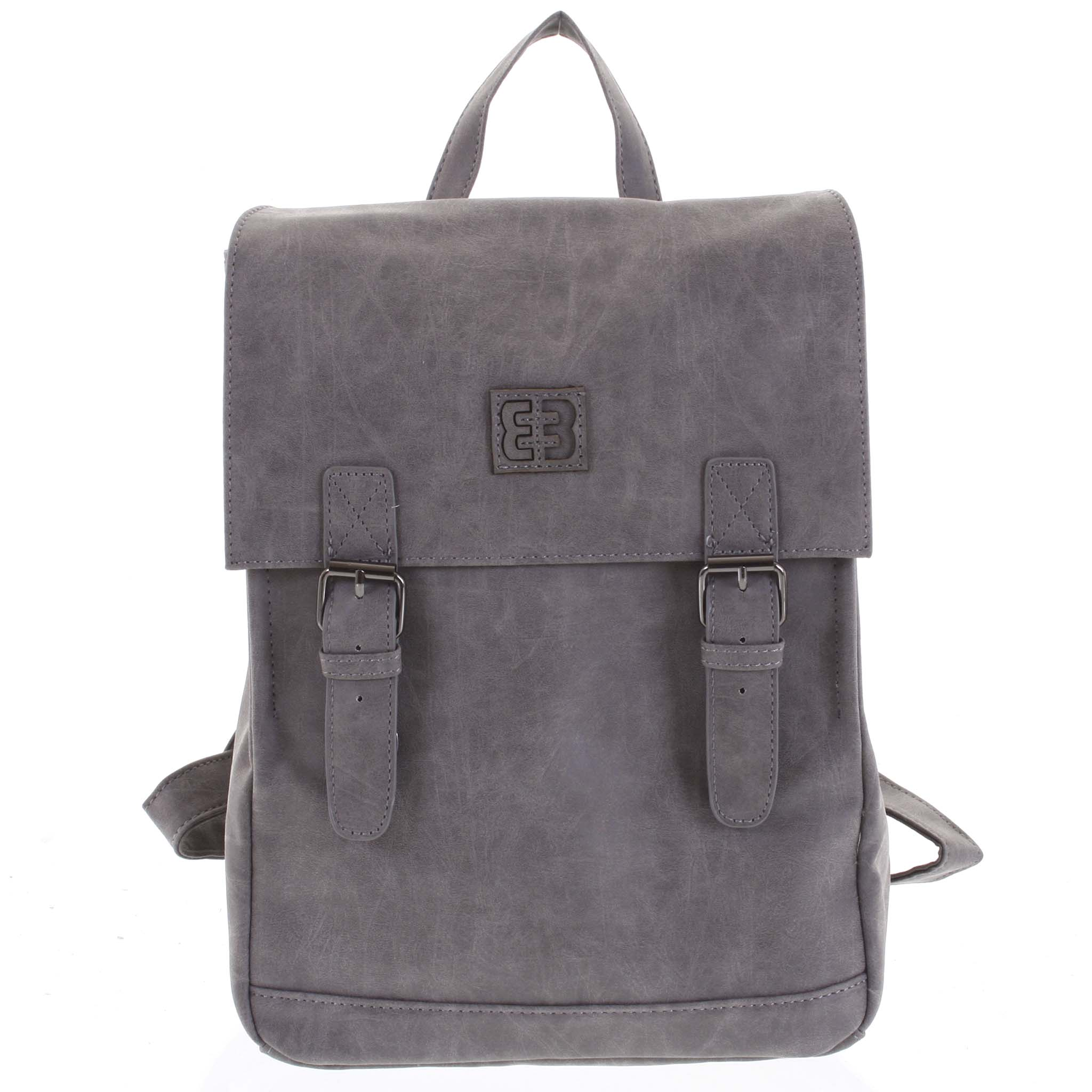 Módní stylový střední batoh tmavě šedý - Enrico Benetti Traverz