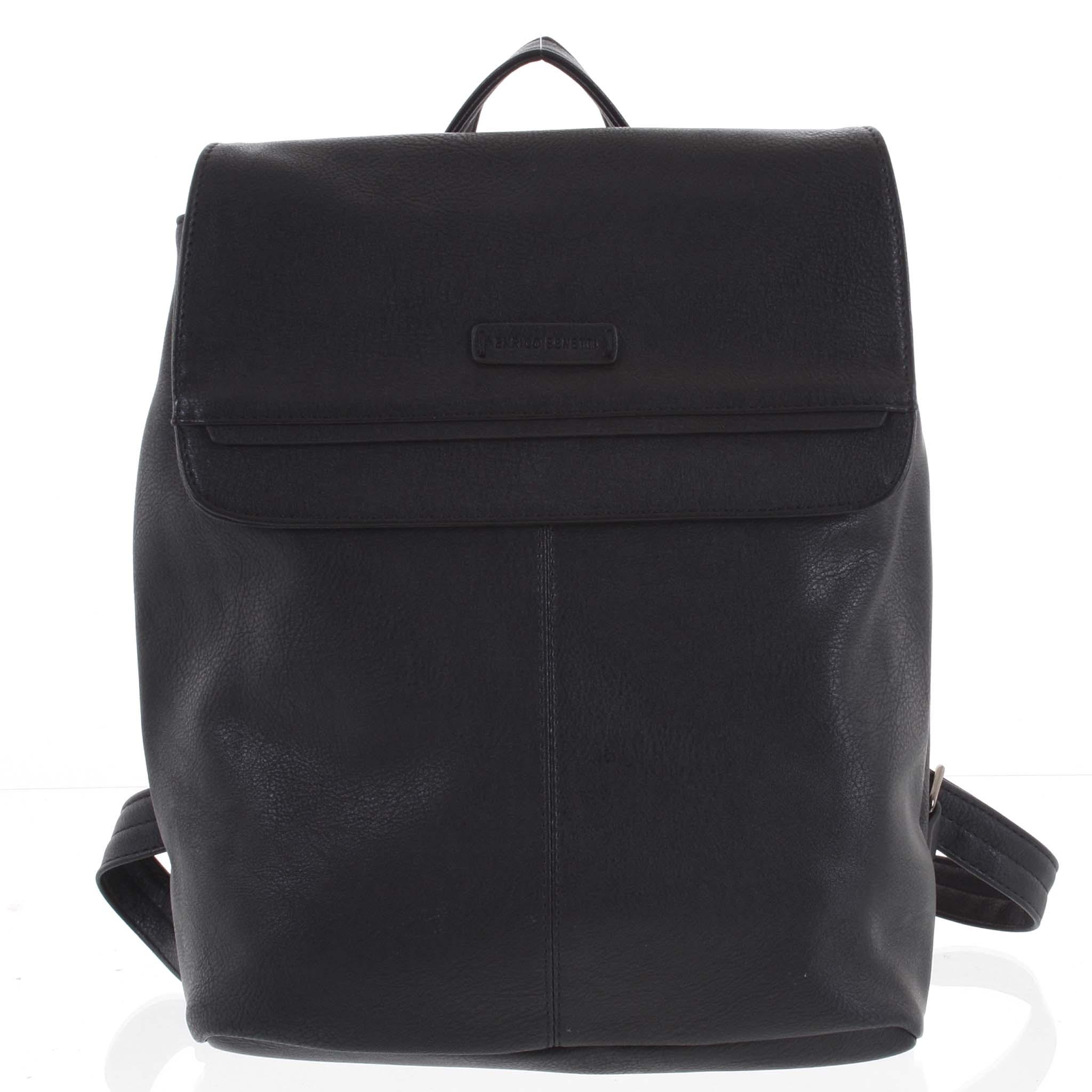 Dámský stylový batoh černý - Enrico Benetti Neneke