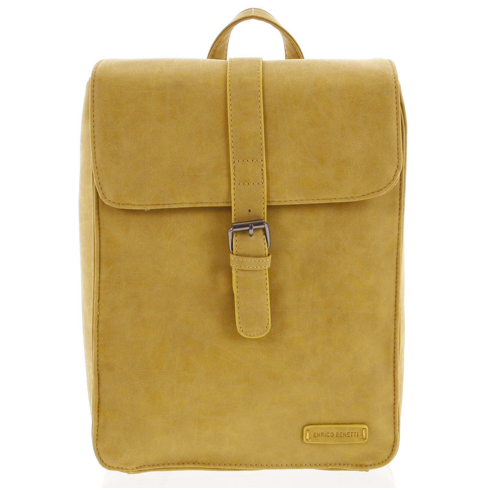 Stylový batoh žlutý- Enrico Benetti Steffani