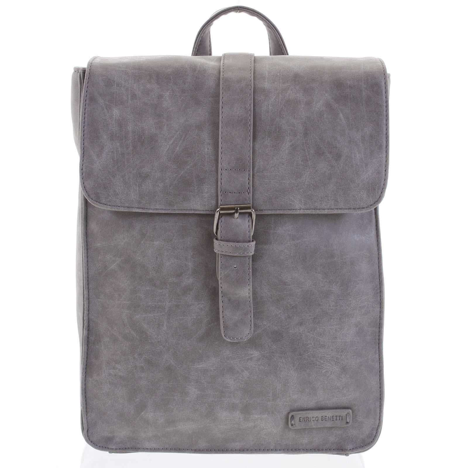 Stylový batoh šedý - Enrico Benetti Steffani