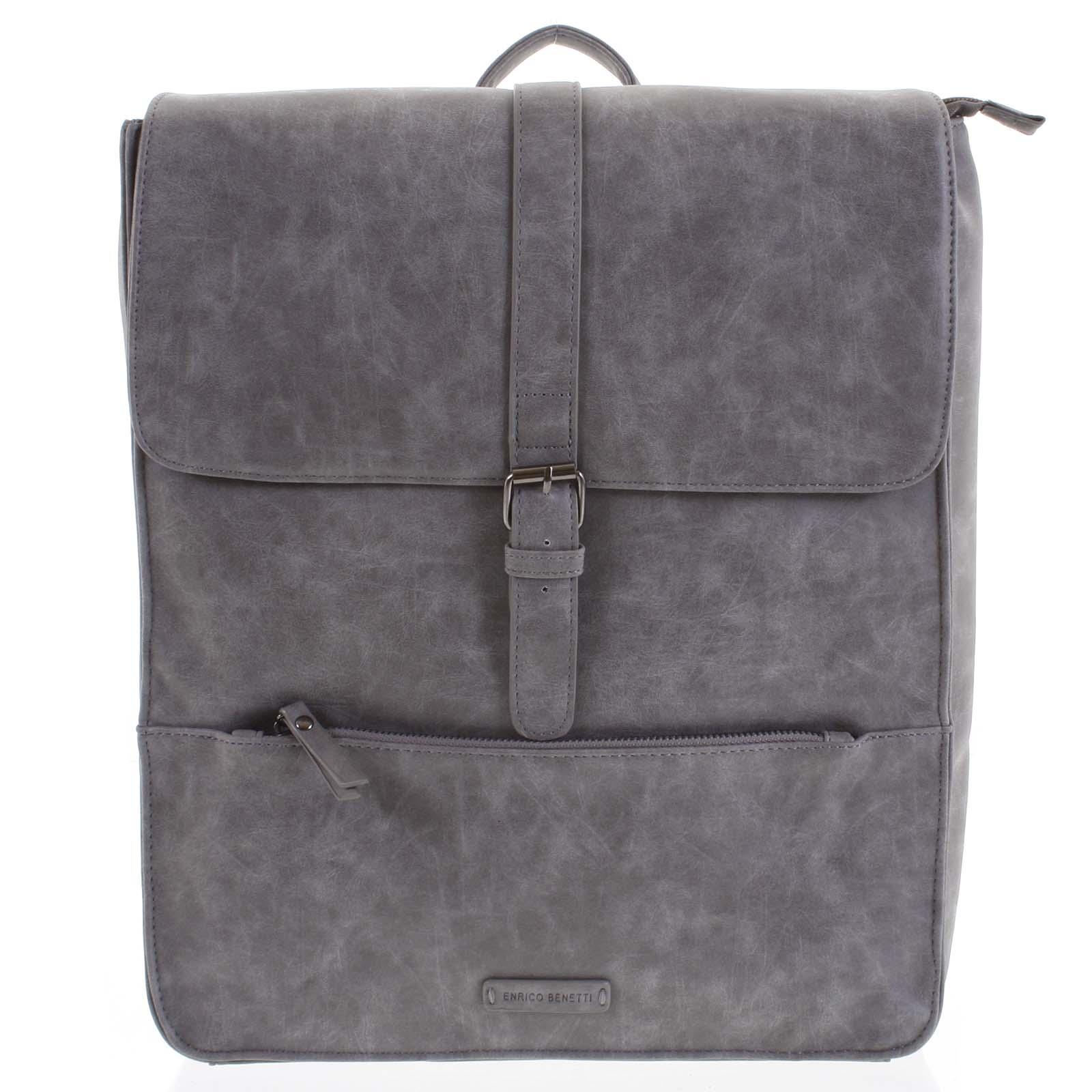 Pánský batoh šedý - Enrico Benetti Kaarlo