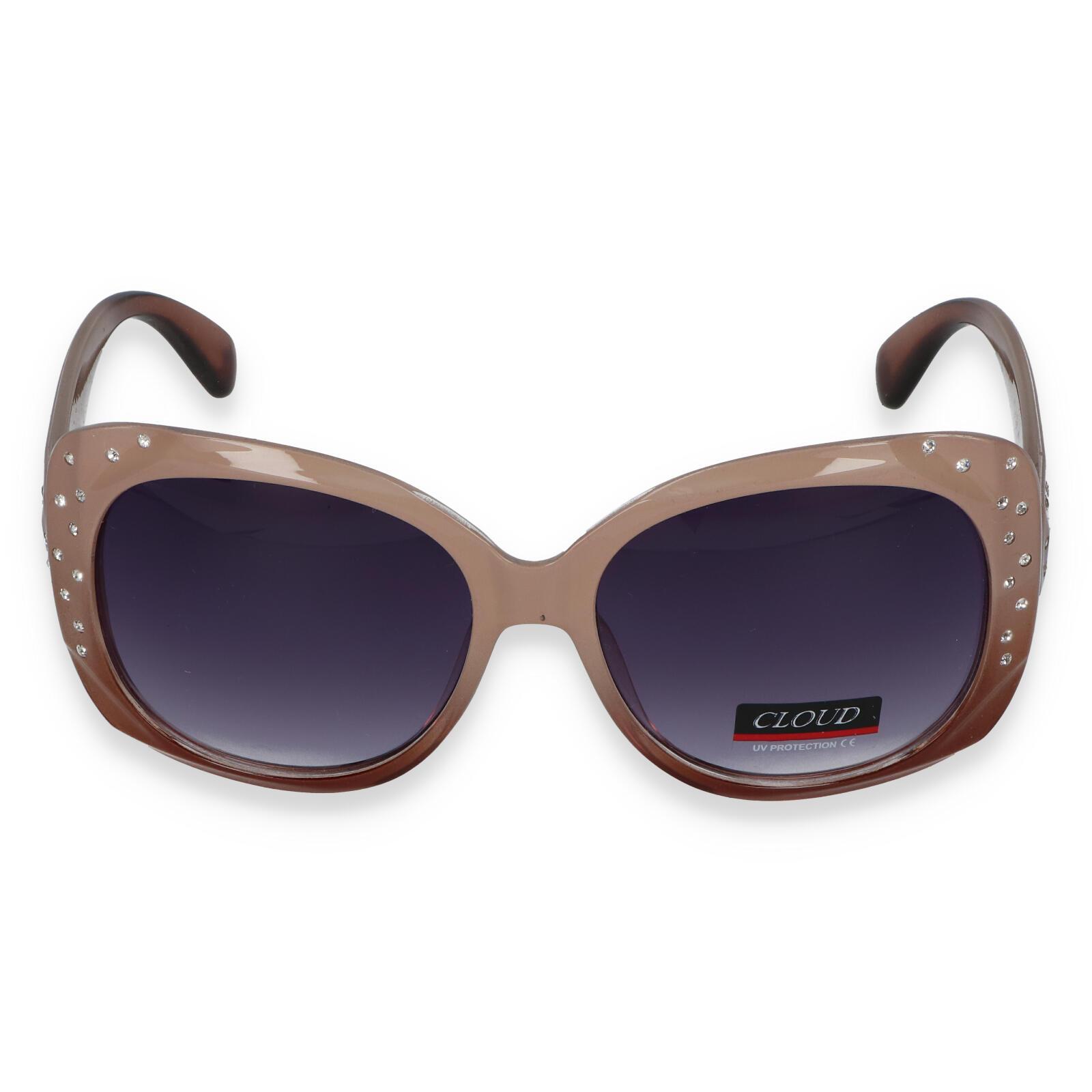 Dámské sluneční brýle béžové - C2092