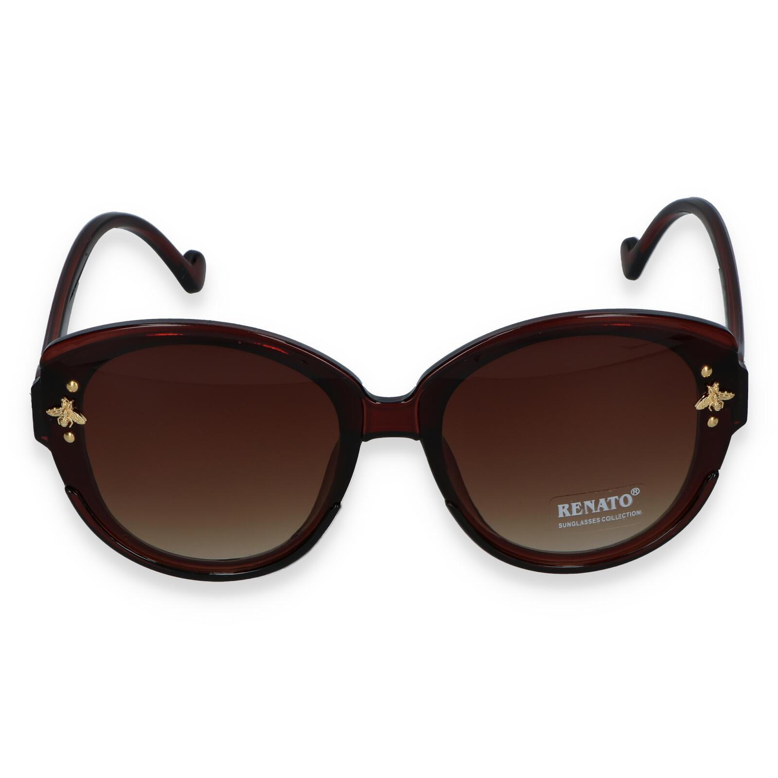 Dámské sluneční brýle tmavě hnědé - R403