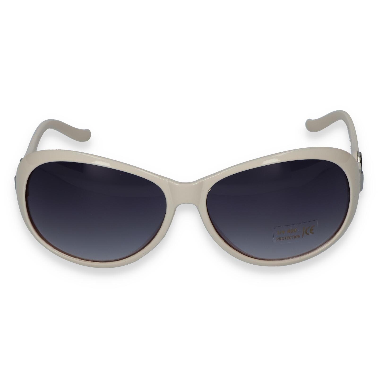 Dámské sluneční brýle krémově bílé - LH185