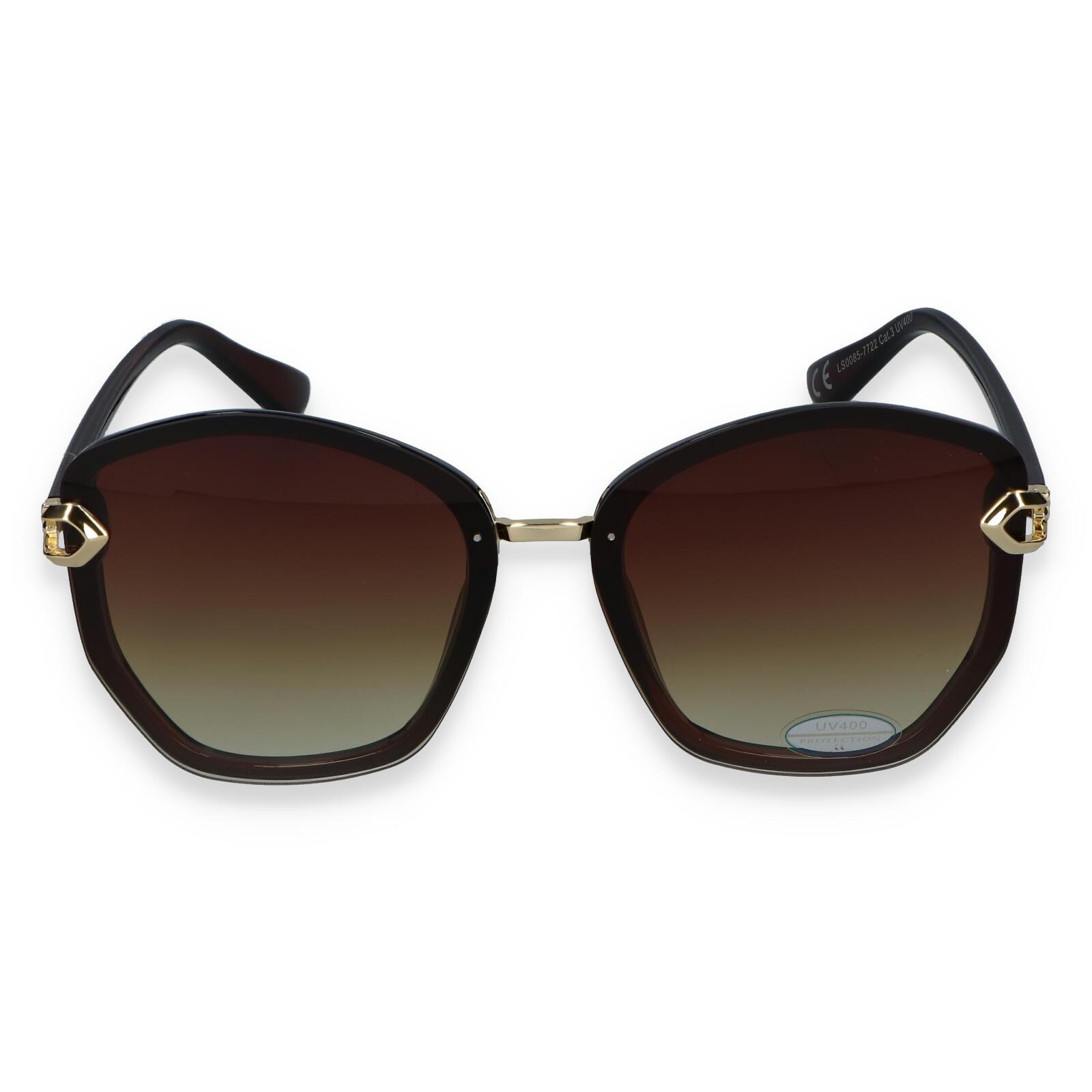 Dámské sluneční brýle tmavě hnědé - LS22