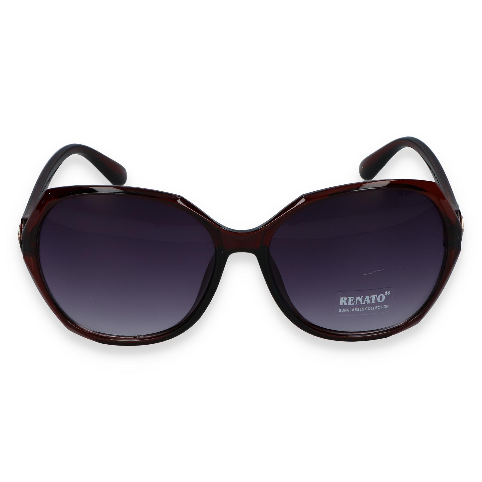 Dámské sluneční brýle tmavě hnědé - R613