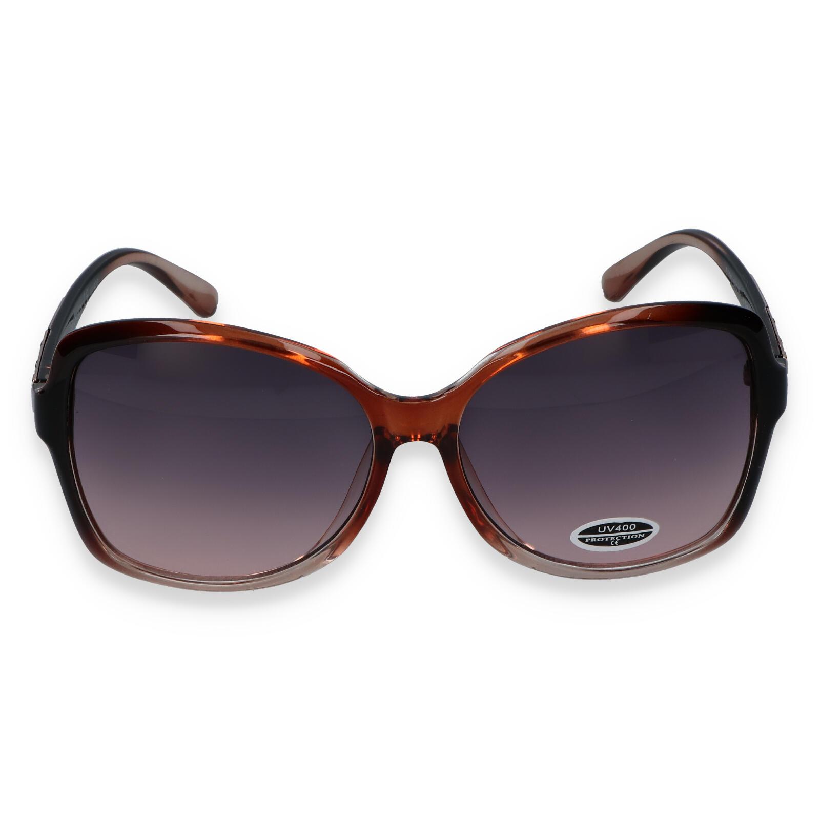 Dámské sluneční brýle hnědé - S3411