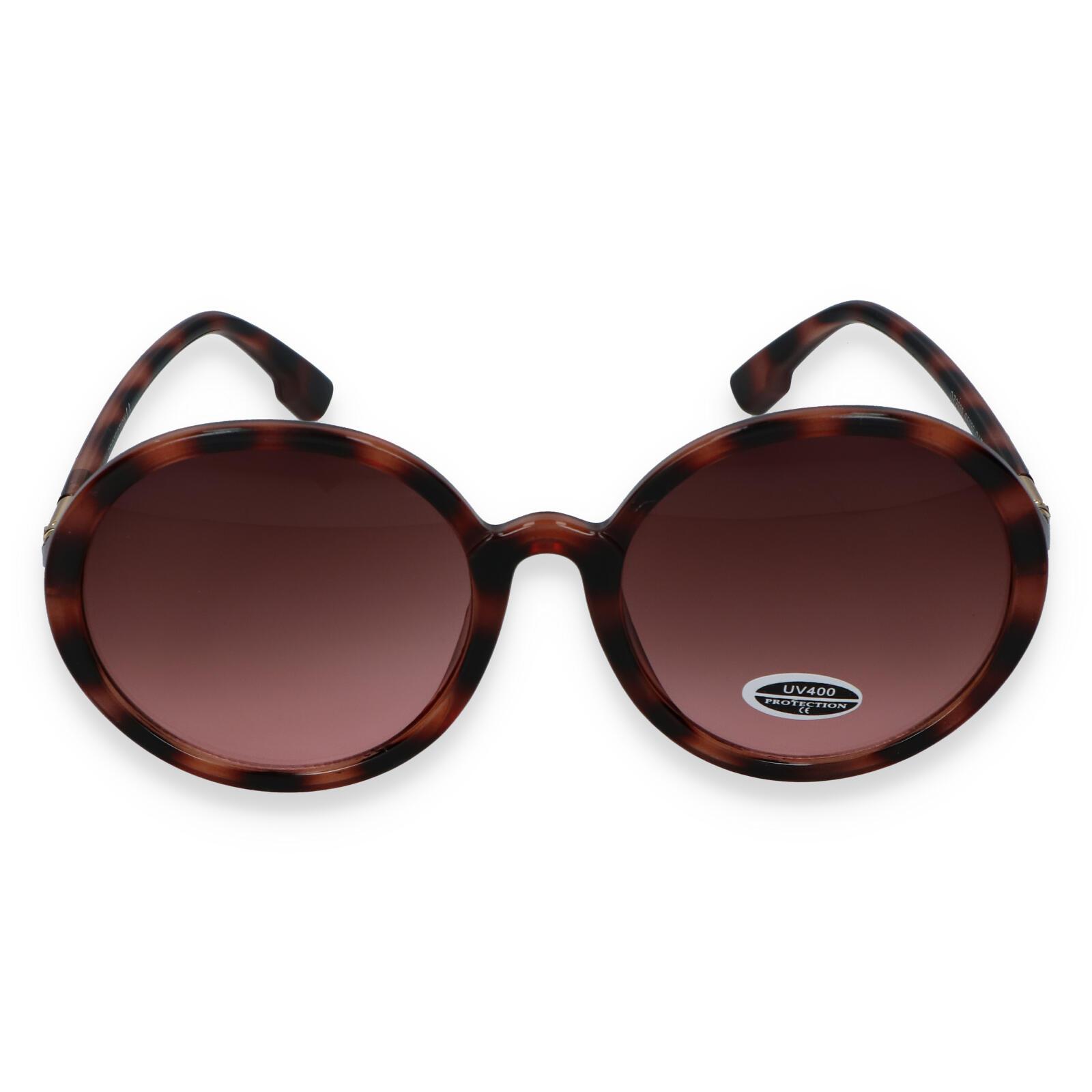 Dámské sluneční brýle hnědo černé - S9305