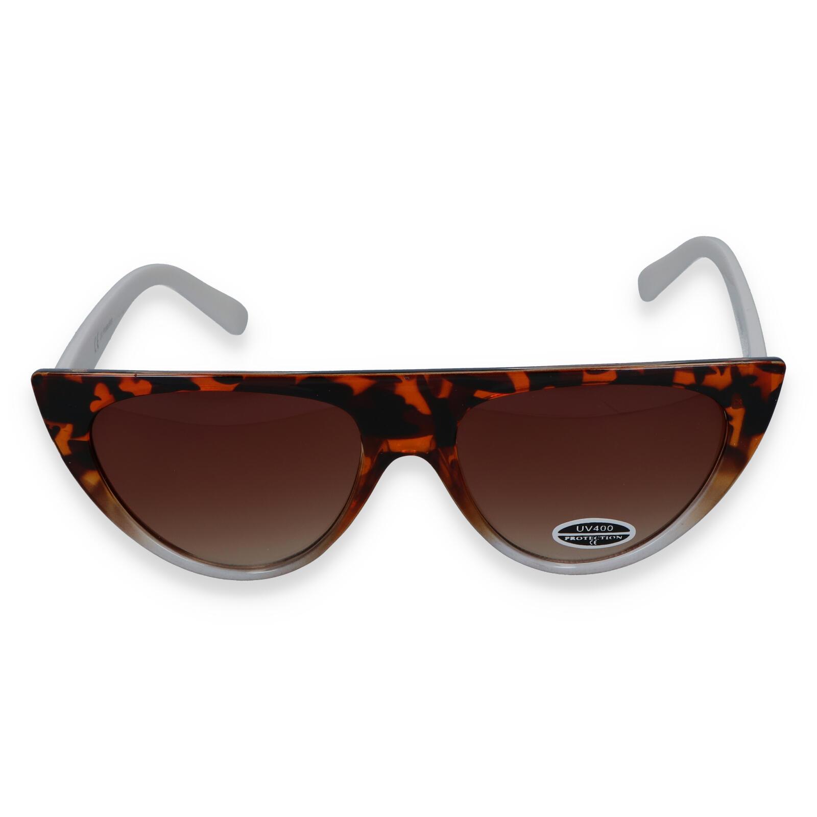 Dámské sluneční brýle hnědo bílé - S9115
