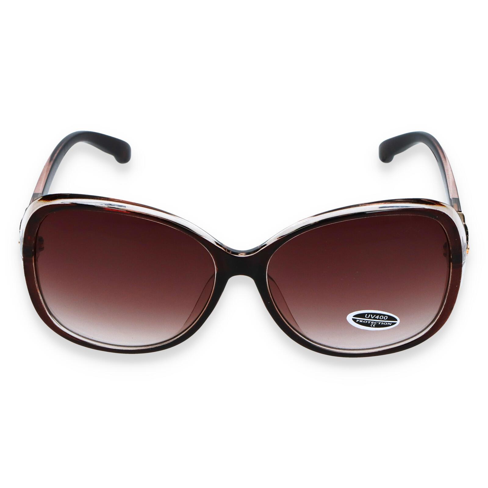 Dámské sluneční brýle tmavě hnědé - S3013