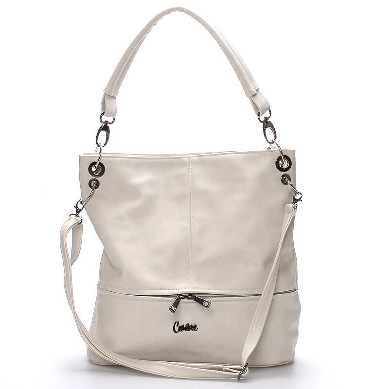 Luxusní dámská crossbody kabelka šedá - Carine Mesa