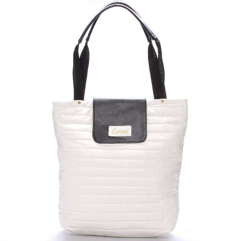 Dámská originální kabelka bíločerná - Carine Wichita