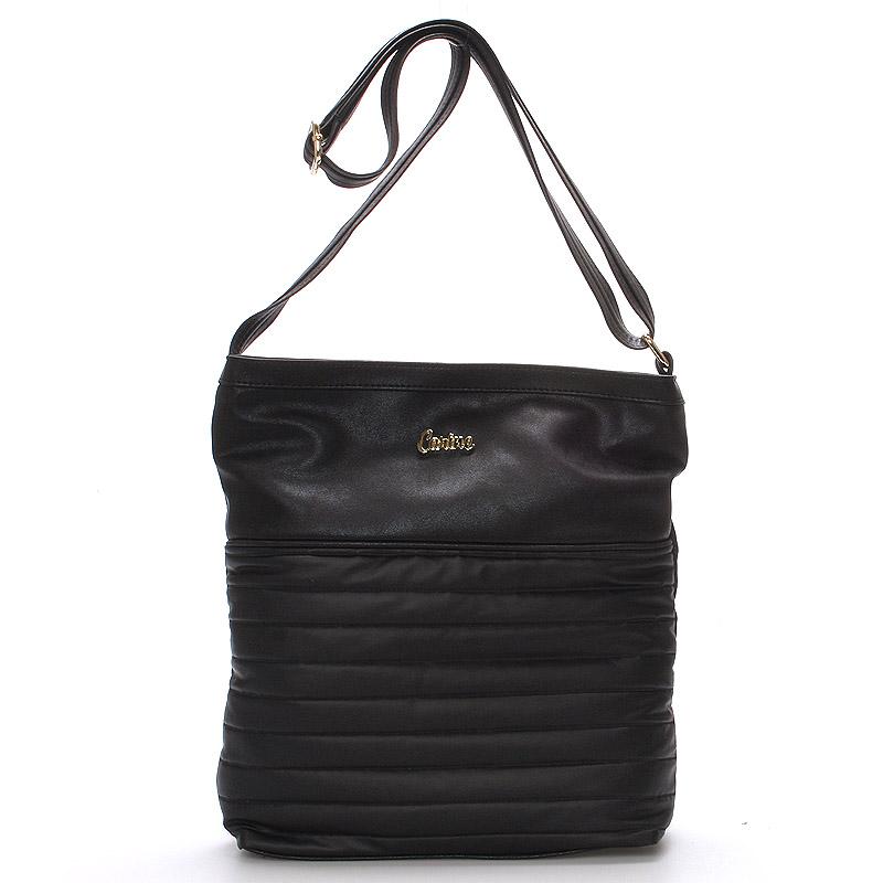 Velká pohodlná crossbody kabelka černá - Carine High