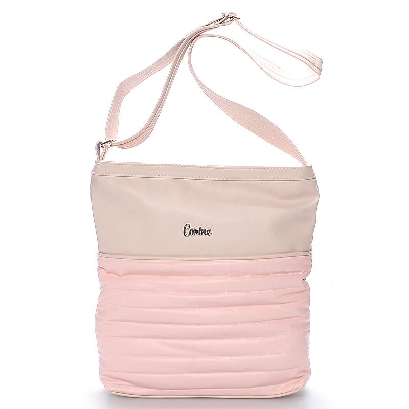 Velká pohodlná crossbody kabelka růžová - Carine High