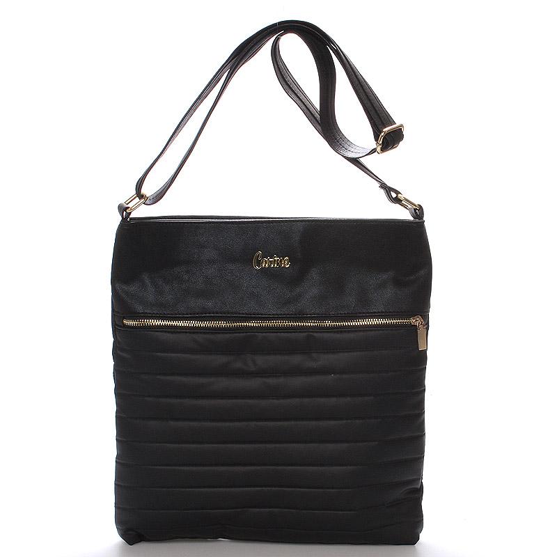 Velká pohodlná crossbody kabelka černá - Carine PalmBay