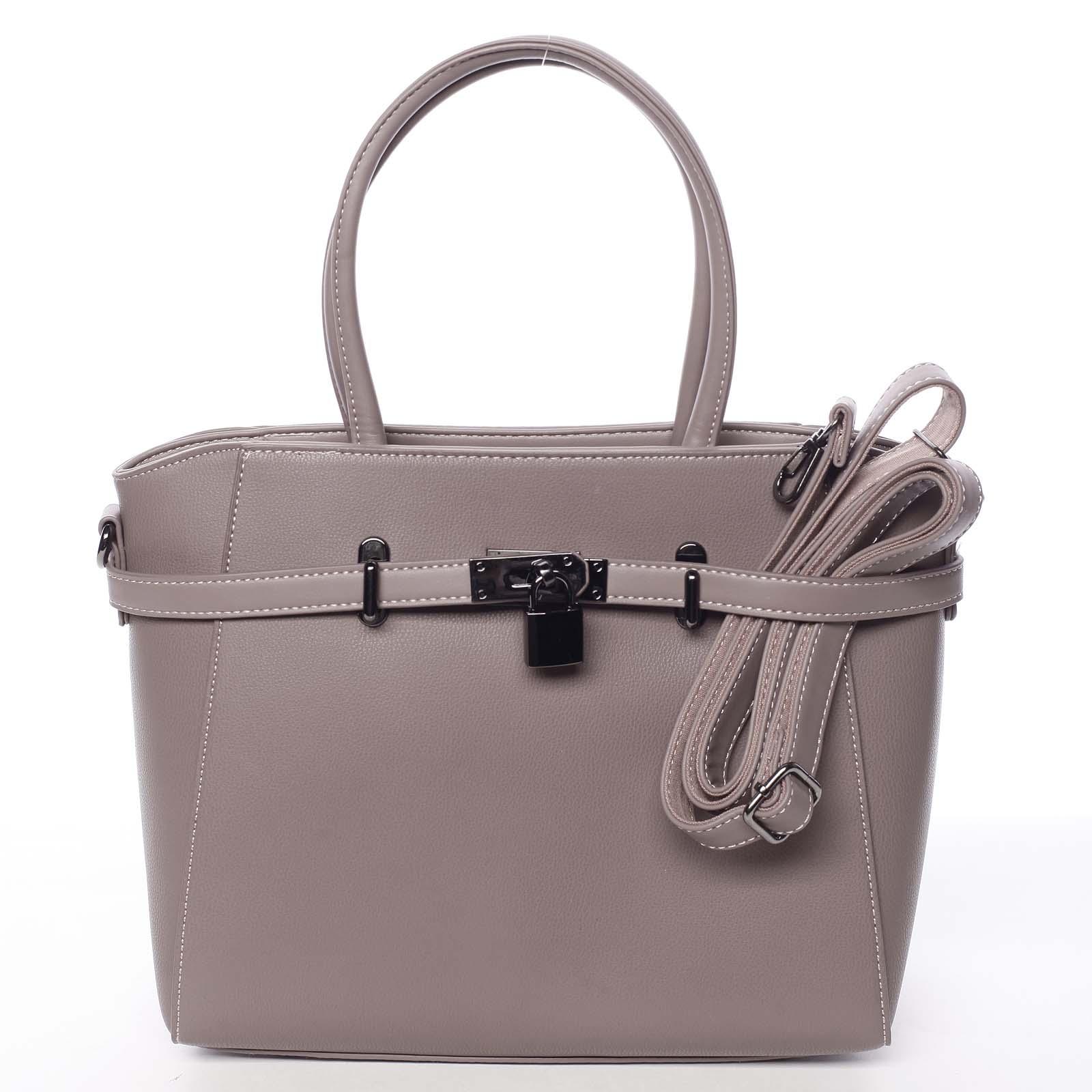 Luxusní stylová menší tmavá starorůžová kabelka do ruky - David Jones Haless