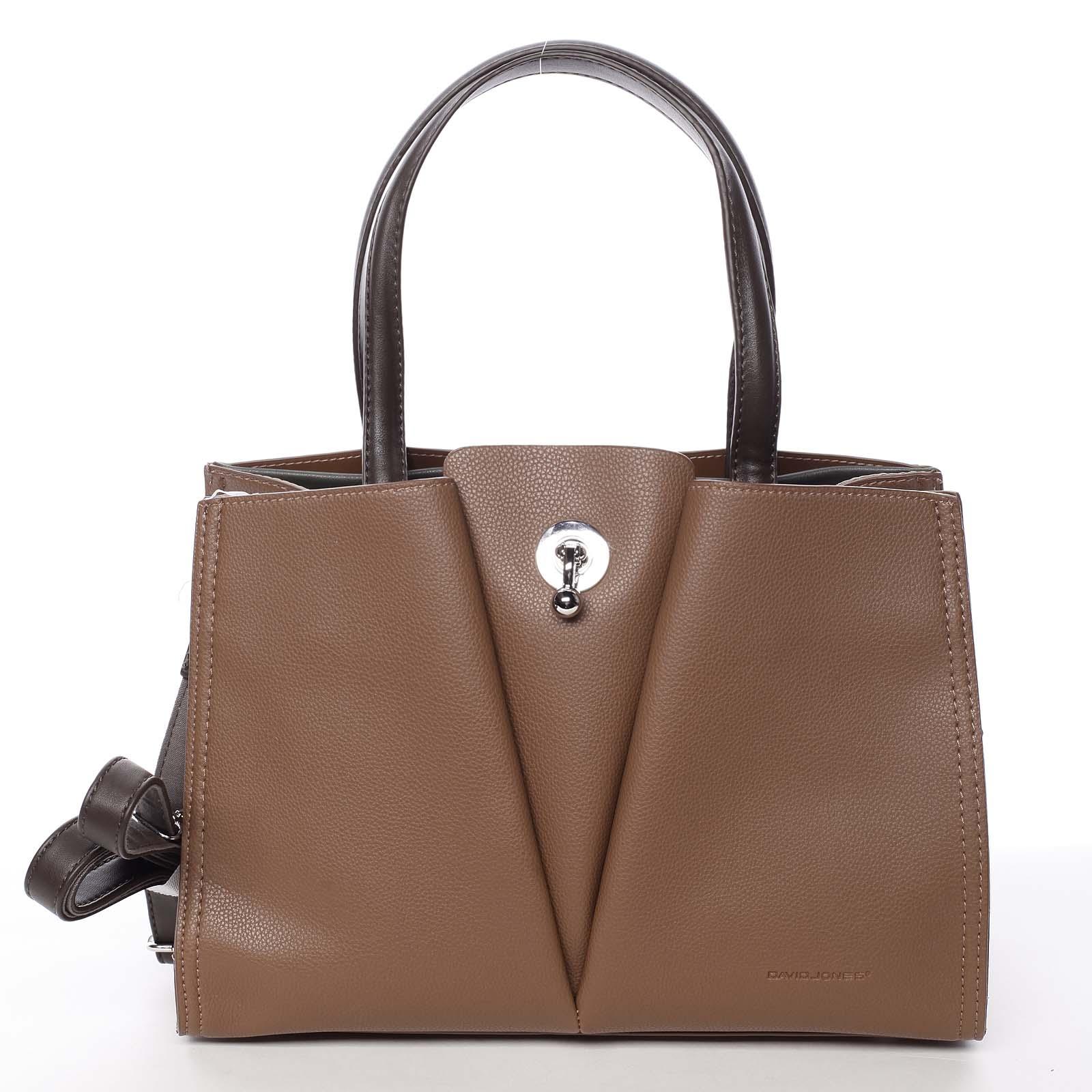 Luxusní dámská hnědá kabelka do ruky - David Jones Aedon