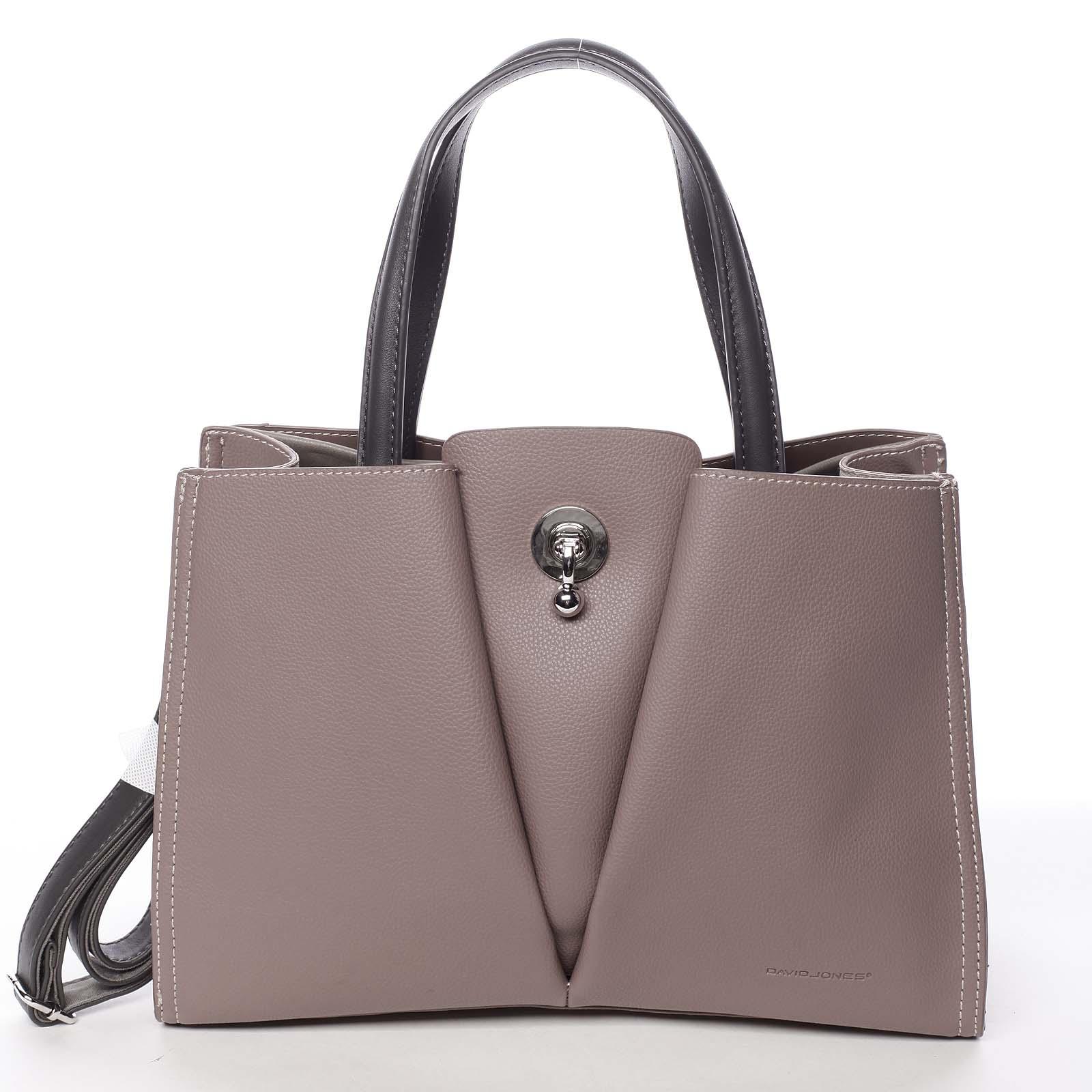 Luxusní dámská tmavě růžová kabelka do ruky - David Jones Aedon