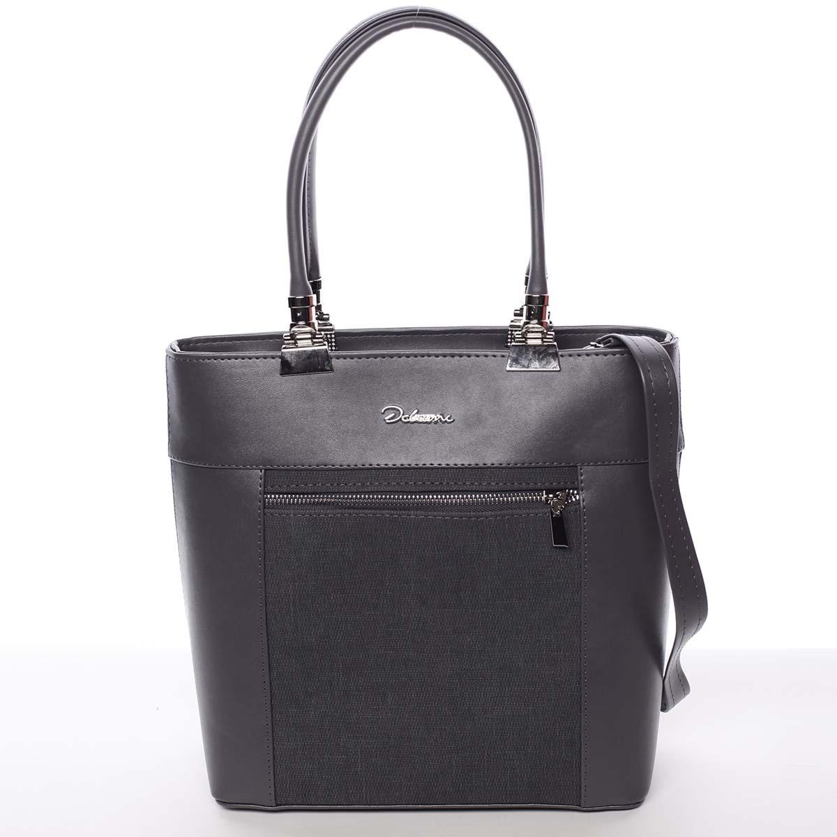 Elegantní dámská kabelka šedá - Delami Kassandra