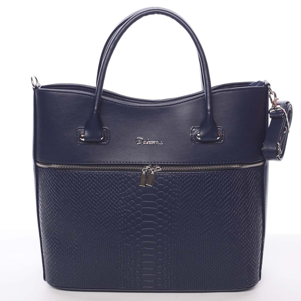 Luxusní dámská kabelka tmavě modrá - Delami Veronica