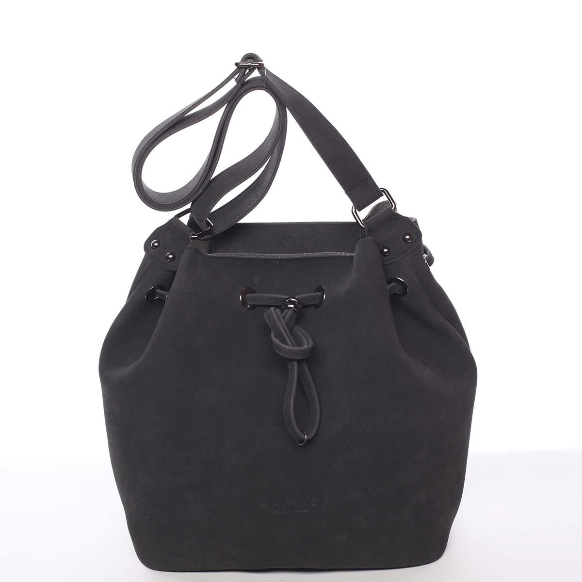 Módní dámská crossbody kabelka černá - Carine Sherlyn
